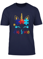 Au Some Funny Unicorn Autism Awareness Puzzle Piece Shirt