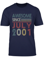 July 2001 T Shirt 18 Years Old 18Th Birthday Decorations