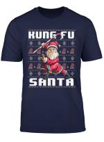 Kung Fu Santa Ugly Christmas Karate Jiu Jutsu Martial Santa T Shirt