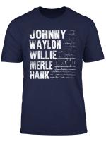 Waylon Willie Merle Hank Johnny Southern Music T Shirt
