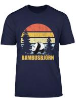 Cooles Bambusbjorn Panda Vintage Geschenk Design T Shirt