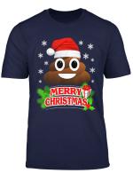 Poop Emoji Santa Funny Christmas Pajama Gift T Shirt