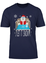 Santa Cocaine Let It Snow Christmas Sweater Gifts T Shirt