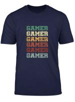 Gamer Vintage Retro Gaming Nerds Geeks T Shirt
