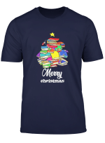 Merry Chistmas Book Tree Funny Librarian Book Lover Gift T Shirt