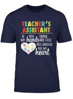 Teacher Assistant Cute Heart Quote Gift Tshirt For Women