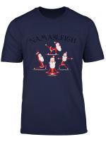 Namasleigh Yoga Santa Christmas Zen Namaste T Shirt