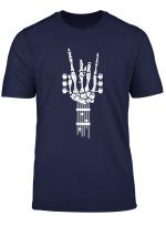 Rock Roll Skeleton Guitar Music Lover Gift T Shirt