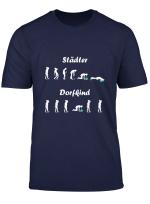 Herren Stadter Vs Dorfkind Saufen Alkohol Party T Shirt