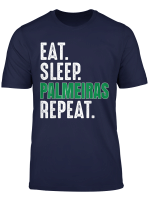 Palmeiras Funny Eat Sleep Repeat Soccer Brazil T Shirt