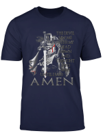 The Crusader The Devil Saw Me Knight Templar T Shirt