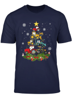 Tractor Christmas Tree Gift Holiday Tractor Funny Xmas Gift T Shirt