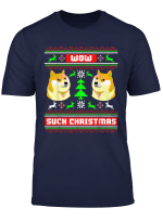 Doge Ugly Christmas Sweater Tshirt Doge Christmas Meme Shirt