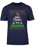 2019 First Christmas As A Grandma New Dad Ugly Sweater T Shirt