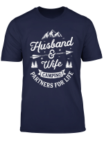 Husband And Wife Camping Partners For Life Outdoor Campers T Shirt