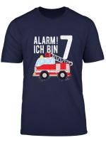 Kinder Feuerwehrauto T Shirt Geburtstag Jungen 7 Jahre Shirt