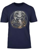 Cobra Kai Rusted Steel Snake Logo Graphic T Shirt