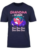 Grandma Shark Doo Doo Christmas Xmas Gift For Grandma T Shirt