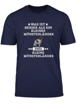 Zwei Kleiner Munsterlander Hund Tshirt Damen Herren Geschenk