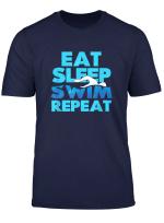 Swimmer Tees Eat Sleep Swim Repeat T Shirt