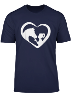 Horse And Girl Heart Silhouette T Shirt For Girl Boy Kids
