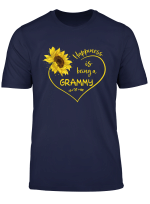 Happiness Is Being A Grammy Grandma Sunflower Heart T Shirt