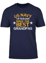 Us Navy Veterans Make The Best Grandpas Faded Grunge T Shirt