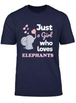 Girls Elephant T Shirt Gift Just A Girl Who Loves Elephants