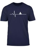 Sailboat Heartbeat Sailor Heartbeat Sail Sailing T Shirt