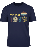 Retro Vintage 1979 T Shirt 40Th Birthday Gifts For Women Men