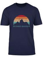 Munro Bagging T Shirt Retro Munro Bagger Setting Sun