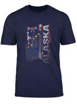 Alaska State Usa Flag Souvenir Gift T Shirt
