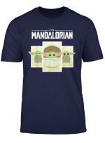 Star Wars The Mandalorian The Child Cartoon Panels T Shirt