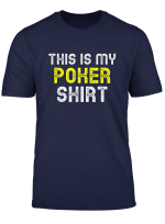 This Is My Poker Funny Player Cool Gift T Shirt