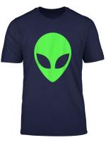 Green Alien Head 90 S Style Funny Alien T Shirt
