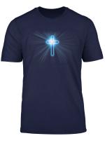 Blau Jesus Christian Kreuz Religioses Christliches Kreuze T Shirt