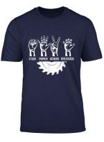 Zimmerer Schere Stein Papier Sage Schreiner Tischler T Shirt