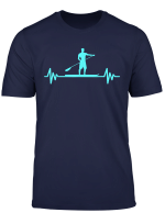 Heartbeat Stand Up Paddle Surfing Sup Surf Paddle Boarding T Shirt
