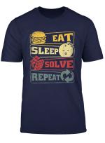 Eeat Sleep Solve Repeat Rubik Cube Zauberwurfel Geschenk T Shirt