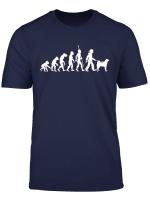 Akita Inu Shiba Evolution Gassi Gehen Hunde T Shirt