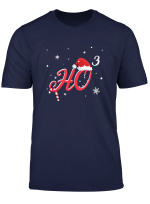 Merry Christmas Ho 3 Santa Xmas Hat T Shirt