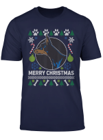 Doberman Pinscher Merry Christmas Ugly Xmas Dog Paws T Shirt