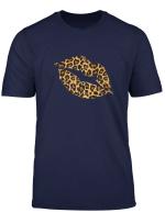 Cool Lips Kiss Me Leopard Cheetah Print T Shirt