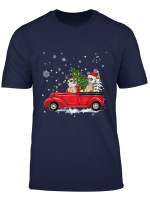 Meerkat Riding Red Truck Christmas Pajama Xmas Gifts T Shirt