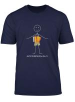 Funny Mens Accordion Design Boy Music Gifts T Shirt