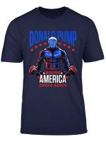 Donald Pump Swole America Trump Weight Lifting Gym Fitness T Shirt