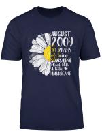 August Girl T Shirt 10 Years Old Sunshine Birthday Shirt