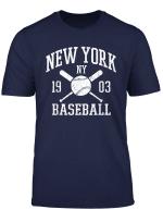 Cool Nyc Baseball Bats New York City Vintage Distressed T Shirt