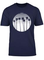 Retro Palms T Shirt Palmen Streifen Kreis Surf Tropisch