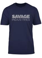 Savage Industries Grey Distressed Logo T Shirt